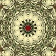 Bottle Brush Kaleidoscope Art Print