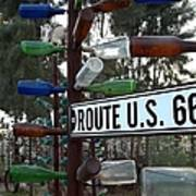 Bottle Trees Route 66 Art Print