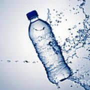 Bottle Water And Splash Art Print by Johan Swanepoel