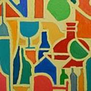 Bottles And Glasses 2 Art Print