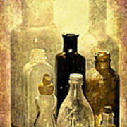 Bottles From The Past Art Print