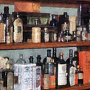 Bottles In General Store Art Print