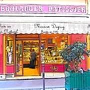 Boulangerie Patisserie In Paris Art Print