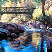 Boulder Creek Bridge Art Print