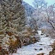 Boulder Creek Winter Wonderland Art Print