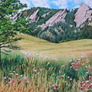 Boulder Flatirons - Chautauqua Study Art Print
