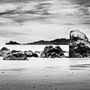 Boulders On The Beach Art Print by William Voon