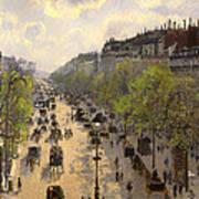 Boulevard Montmarte Art Print