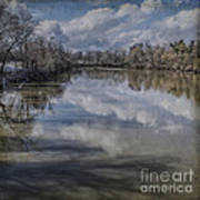 Boundary Channel Reflections Print by Terry Rowe