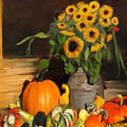Bountiful Harvest - Floral Painting Art Print