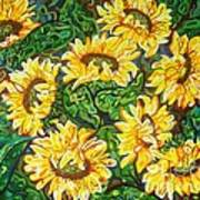 Bountiful Sunflowers Art Print