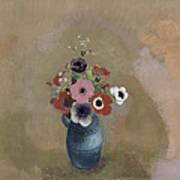 Bouquet Of Anemones Print by Odilon Redon