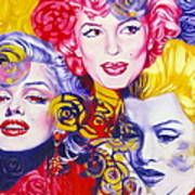 Bouquet Of Marilyn Art Print by Rebecca Glaze