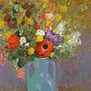 Bouquet Of Wild Flowers  Art Print by Odilon Redon