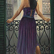 Bourbon Street Balcony  Art Print