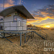 Bournemouth Beach Sunrise Art Print