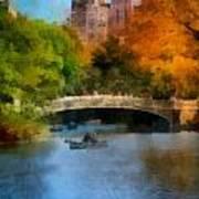 Bow Bridge Central Park Print by Amy Cicconi