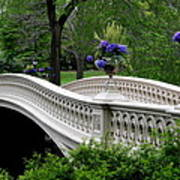 Bow Bridge Flower Pots - Central Park N Y C Art Print