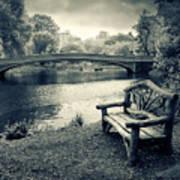 Bow Bridge Nostalgia Art Print