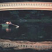 Bow Bridge Rowboat Central Park Art Print