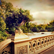 Bow Bridge View Art Print