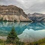 Bow Lake Pano Banff National Park Art Print