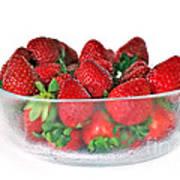 Bowl Of Strawberries Art Print