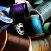 Bowl Of Thread Art Print