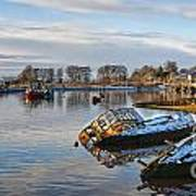 Bowling Harbour Panorama 01 Art Print