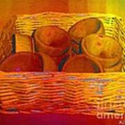Bowls In Basket Moderne Art Print