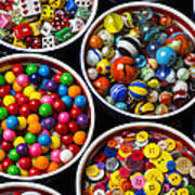 Bowls Of Buttons And Marbles Art Print