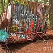 Box Car Graffiti Art Print