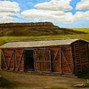 Boxcar On The Plains Art Print