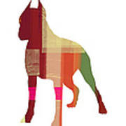 Boxer 2 Print by Naxart Studio