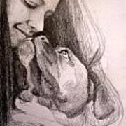 Boxer Kisses Art Print