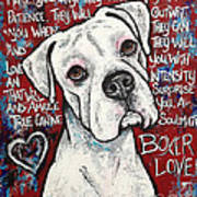Boxer Love Art Print