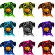 Boxer Mix Dog Art - 8173 - Wb - M Art Print