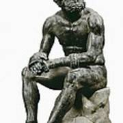 Boxer Seatted. 1st C. Hellenistic Art Art Print