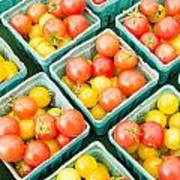 Boxes Of Cherry Tomatoes On Display Art Print