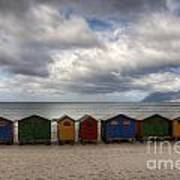 Boxes On The Beach Art Print