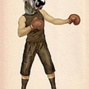 Boxing Bulldog Art Print