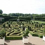 Boxwood Garden Design - Chateau Villandry Art Print