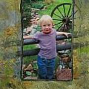 Boy By Fence Art Print