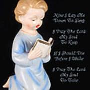 Boy Childs Bedtime Prayer Art Print