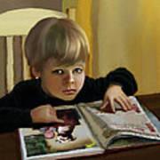 Boy In A Black Sweater Detail Art Print