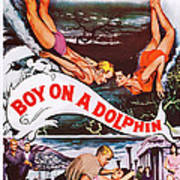 Boy On A Dolphin, Us Poster, Center Art Print