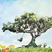Boy On A Swing Art Print