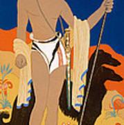 Boy Warrior With Two Borzoi Hounds Art Print