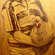 Boy With Chicken Art Print
