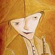 Boy With Flute 413-08-13 Marucii Art Print